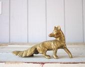 Vintage Brass Fox // Solid Brass
