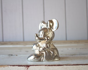 Vintage Silver Minnie Mouse // Disney Bank