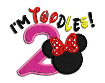I'm Toodles Mouse and Miss Mouse Birthday 2 Embroiderd Shirt perfect for a Disney trip