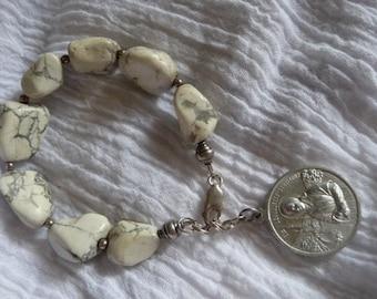 Vintage religious medal St. Bernadetta  Bracelet