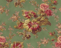 Espirit Maison Large Floral Green by Robyn Pandolph for RJR Fabrics