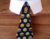 Emoticons Dog Tie, Smiley Face Dog Tie and Shirt Collar, Emoji Dog Tie and Cat Tie