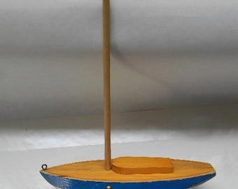 BOAT, Vintage Handmade Sailboat