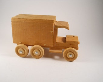 Wood HandMade Truck Toy Wheels door
