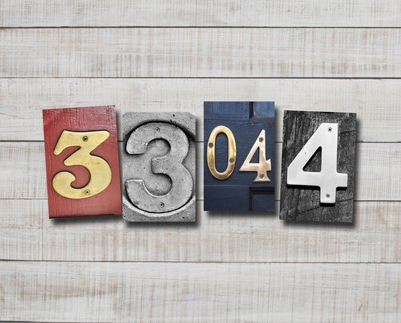 4x6 Number Photo and Date Photos, numbers 3&4, print only, alphabet art