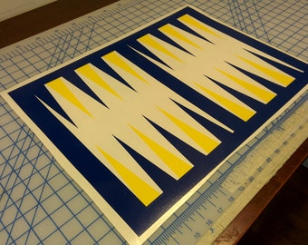 Backgammon game / board game / back gammon game / family game / family night / vinyl decal / do it yourself / strategy game / board game