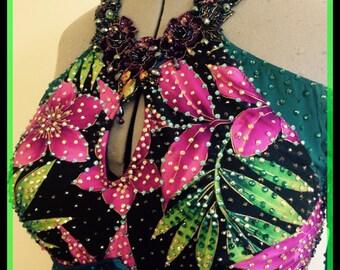 Green Dance Dress  Smooth Dance Dresses  Green Dance dresses  Ballroom Dance Dresses