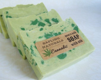 Cannabis Soap - goat's milk soap with hemp oil