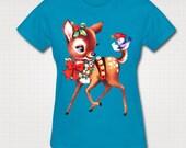 Kitsch Christmas Reindeer T-shirt
