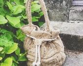 Bucket Bag, crochet bucket bag, jute bucket bag