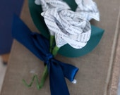 Book Page Rose Pin On Mother's Corsage