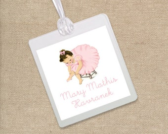 Ballerina Luggage Tag