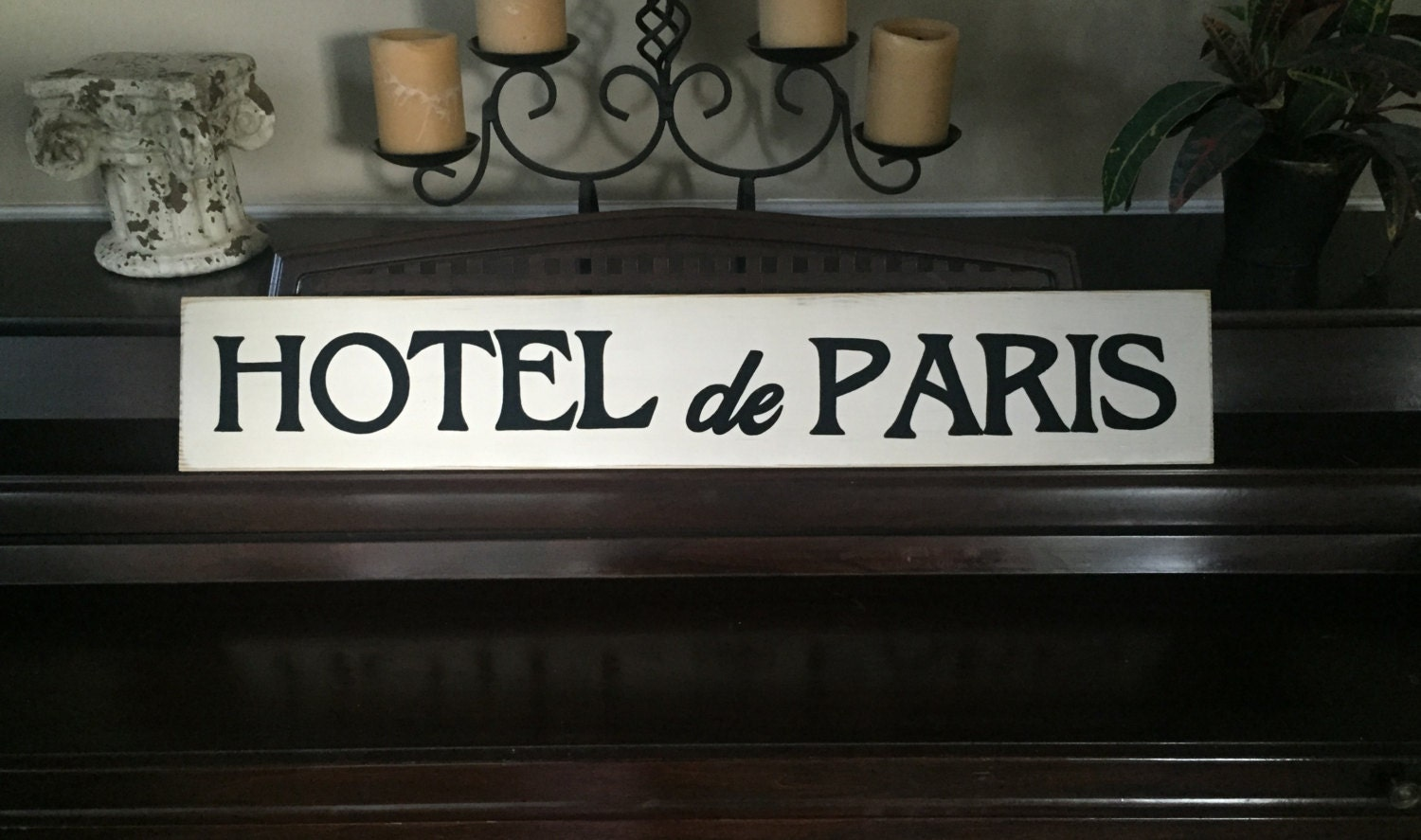 Hotel de paris french country sign plaque wall decor apartment for Hotel wall decor