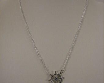 Anchor and Ship's Wheel Necklace