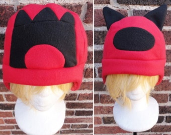 Team Magma Pokemon Hats - Fleece Hat Adult, Teen, Kid - A winter, nerdy, geekery gift!