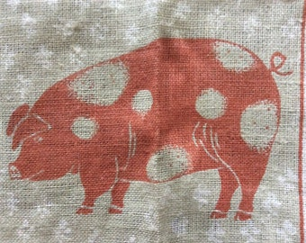 Vintage Towel titled THE SMILING PIGS by Kay Dee and artist Bob Goryl