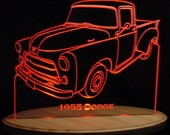 1955 Dodge Pickup no Spare Truck Acrylic Lighted Edge Lit LED Sign VVD2 Full Size USA Original