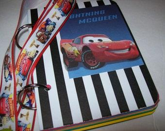 Disney Vacation Autograph Book, Premade Autograph Book, Cars Autograph Book, Lightning McQueen Autograph Book, Tow Mater Autograph Book