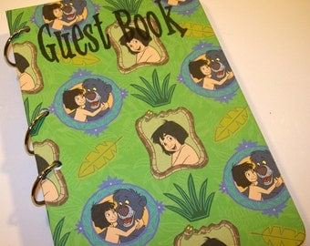 Guest Book, Jungle Book Birthday, Party Sign in Book, Jungle Book Baby Shower, Jungle Book Party, First Birthday, Mawgli, Baloo