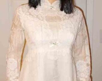 Edythe Vincent Wedding Dress an Alfred Angelo Original Vintage Dress 1930s or 1940s