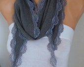 Gray Pashmina Scarf - Fall Scarf,Cotton Scarf -Women Scarf - Cowl,Bridesmaid Gift,Gift Ideas For Her,Women Fashion Accessories - fatwoman