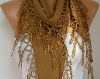 Dark Camel Pashmina Scarf Mother's Day Gift Cowl Bridesmaid Gift Gift Ideas for Her Women Fashion Accessories