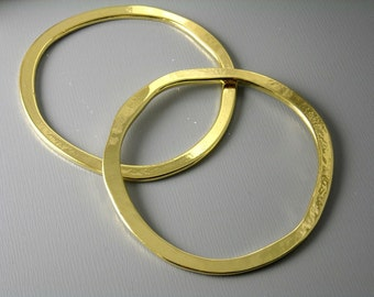 LINK-GOLD-53MM - Large 53mm 14k Gold Filled Circle Links...1 pc
