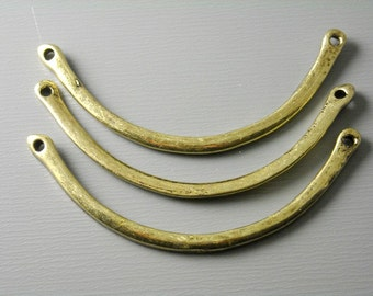 CHARM-AB-CR-47MM - Linking Curved Bars, Antique Brass, 4 pcs