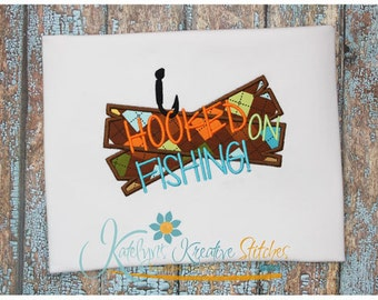 Hooked on Fishing Applique