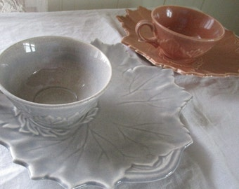 Steubenville Pottery  Woodfield  Tea and Toast Snack Sets