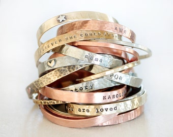 Personalized / Graduation Gift / Customized Cuffs / Custom Gift / Personalized Jewelry / Gift for Her / Personalized for Her