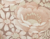 Vintage Wallpaper by the Yard 70s Retro Wallpaper - 1970s Poppies and Daisies on Brown