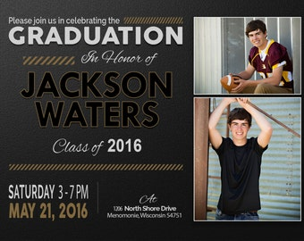Graduation Party, Senior Announcements, Invitations, Graduation Invitation Templates, Graduation Invites, Graduation Announcement, Jackson16