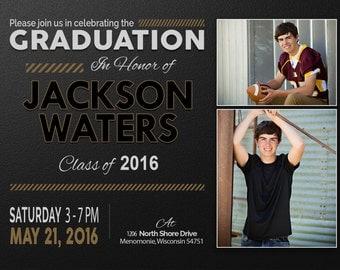 Graduation Party, Senior Announcements, Invitations, Graduation Invitation Templates, Graduation Invites, Graduation Announcement, Jackson16