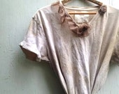mocha brown soft latte tea dyed look romantic funky fashion boho vintage pastel gypsy shabby prairie girl tunic lagenlook