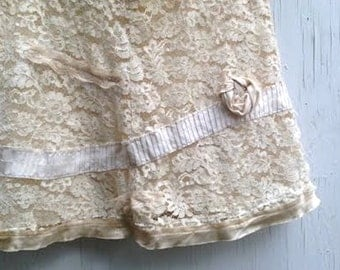ivory white sand rebecca taylor wedding lace rose hip chic boho gypsy bride bridesmaid skirt