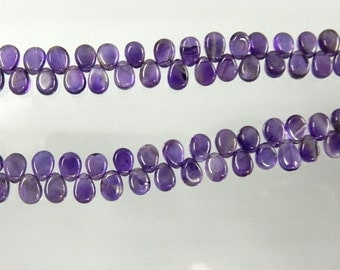 Amethyst Briolette Smooth Pear Drops AAA Quality Dark Purple Size 5x7MM Natural African Wholesale Price