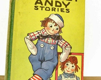 1920 Antique Book, Raggedy Andy Stories, 1st First Edition, Raggedy Ann and Andy, Children Book, Johnny Gruelle, Literary Classic