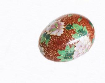 Vintage Enamel Cloisonne Egg, Egg Decor, Home Decor, Asian Decor, Asian Egg, Oriental Design, Vintage Egg