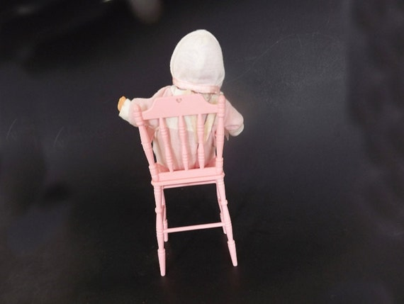 1988 Lewis Galoob Lgti Baby Doll With High Chair By