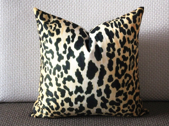Velvet Animal Print Pillows : Leopard thin Velvet Pillow Cover Animal Print Throw Pillow