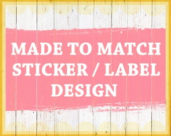 Sticker design - Matching sticker Address label design - Sticker template - Label template