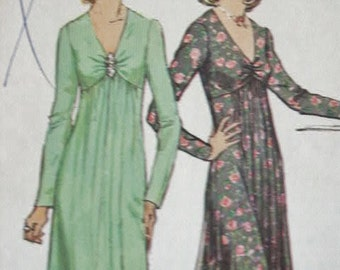 UNCUT Vintage Simplicity Center Front Gathered with Shaped Bodice Evening Dress or Short Length Sewing Pattern 6024 Size 16 Bust 38