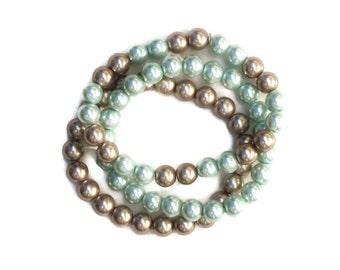 Plus Size Bracelet Stack, Plus Size Jewelry, Bead Bracelet, Stretch Bracelet