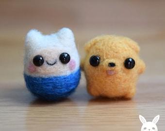 Miniature Felted Finn & Jake