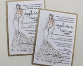 Sassy Bride Bridal Shower Invitation-- Private Listing