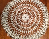 Vintage Crocheted Doily, Beautiful Vintage Doily, White Vintage Dolies, Crocheted Doily, Vintage Decor, Home Decor