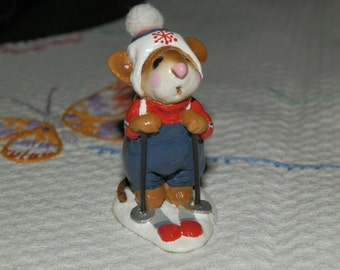 """Wee Forest Folk-""""Skier Mouse"""" -MS 9"""