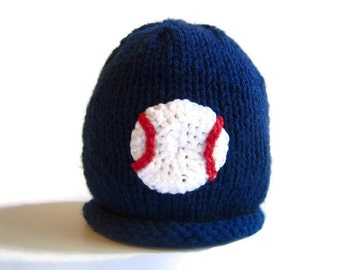 Toddler Knit hat - BASEBALL Hat - winter boy's hat - child's knit hat - child's winter hat - kid's beanie hat - kid's sports hat