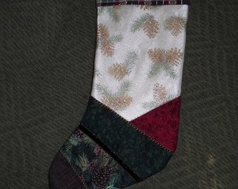 Rich Earth Tones Victorian Christmas Stocking